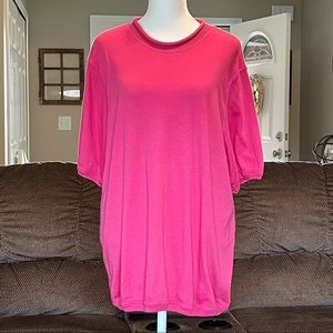 🔥3/$18 Only Necessities Pink Short Sleeve Blouse